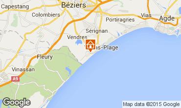 Mapa Valras-Praia Casa 102219