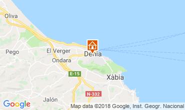 Mapa Dénia Apartamentos 114262