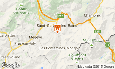 Mapa Saint-Gervais-les-Bains Chal� 2571
