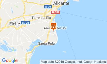Mapa Alicante Apartamentos 112598