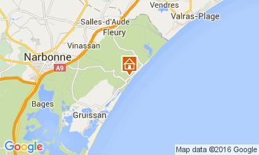 Mapa Narbonne praia Apartamentos 104852