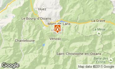 Mapa Les 2 Alpes Chalé 60919