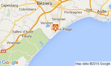 Mapa Valras-Praia Casa 103952