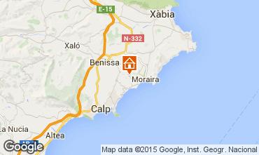 Mapa Moraira Vivenda 87365