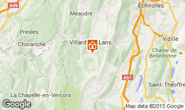 Mapa Villard de Lans - Corrençon en Vercors Apartamentos 3662