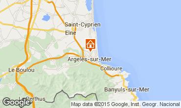 Mapa Argeles sur Mer Casa de turismo rural/Casa de campo 83640