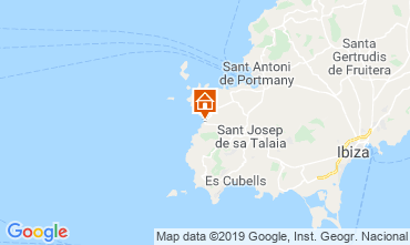 Mapa Cala Tarida Apartamentos 118637