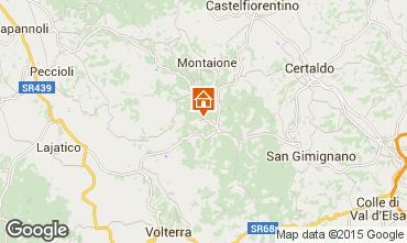 Mapa Gambassi Terme Apartamentos 58105