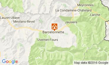 Mapa Barcelonnette Apartamentos 4863