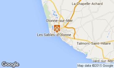 Mapa Les  Sables d'Olonne Apartamentos 77419