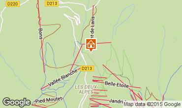Mapa Les 2 Alpes Apartamentos 1242