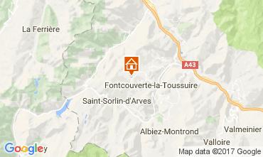 Mapa La Toussuire Apartamentos 107625