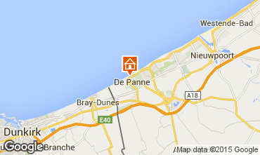 Mapa La Panne Apartamentos 9558