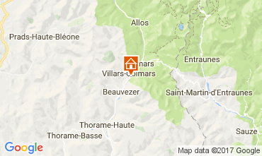 Mapa Val d'Allos Chal� 3208