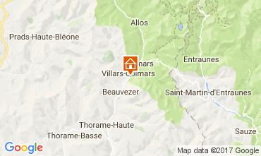Mapa Val d'Allos Chalé 3208