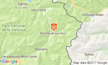 Mapa Bonneval sur Arc Chal� 58421