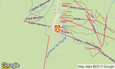 Mapa Les 2 Alpes Apartamentos 53010