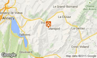 Mapa Manigod-Croix Fry/L'étale-Merdassier Chalé 27781