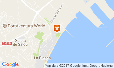 Mapa La Pineda Apartamentos 110394