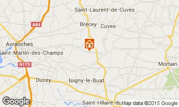 Mapa Monte Saint-Michel Casa de turismo rural/Casa de campo 68684