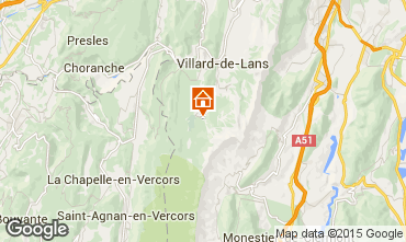 Mapa Villard de Lans - Corren�on en Vercors Casa de turismo rural/Casa de campo 71792