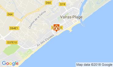 Mapa Valras-Praia Apartamentos 114554