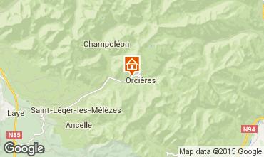 Mapa Orci�res Merlette Casa de turismo rural/Casa de campo 75064
