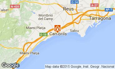 Mapa Cambrils Apartamentos 92761