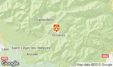 Mapa Orcières Merlette Apartamentos 68260