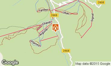 Mapa La Foux d'Allos Est�dio 83893