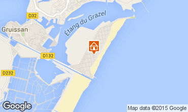 Mapa Gruissan-Plage Apartamentos 84184