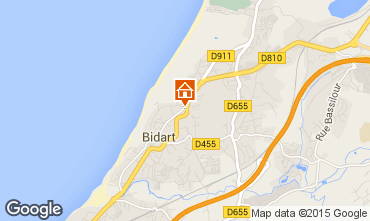 Mapa Bidart Apartamentos 40194