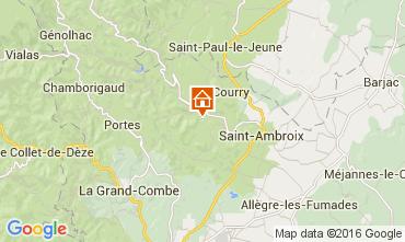 Mapa Saint Ambroix Casa de turismo rural/Casa de campo 104205