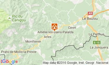 Mapa Amélie-Les-Bains Estúdio 106653