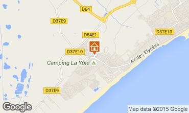 Mapa Valras-Praia Casa 99740