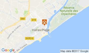 Mapa Valras-Praia Apartamentos 109062