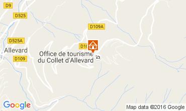 Mapa Le Collet d'Allevard Apartamentos 88530