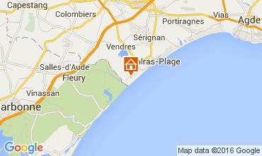 Mapa Valras-Praia Mobil Home 10163