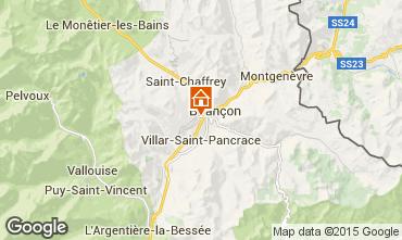 Mapa Briançon Chalé 495