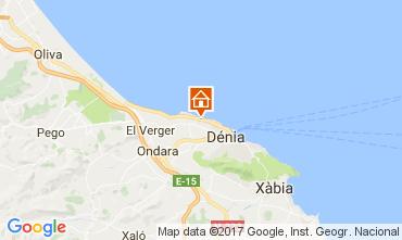 Mapa Dénia Bungalow 108044