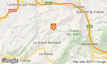 Mapa Le Grand Bornand Chalé 1390