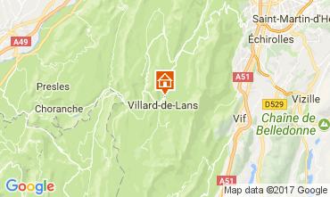 Mapa Villard de Lans - Corrençon en Vercors Apartamentos 112217