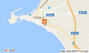 Mapa Gallipoli Apartamentos 113109