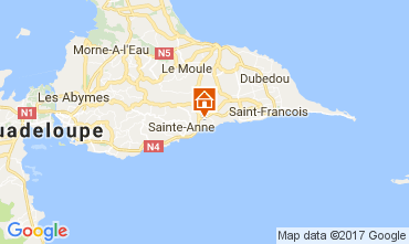 Mapa Sainte Anne (Guadalupe) Bungalow 58644