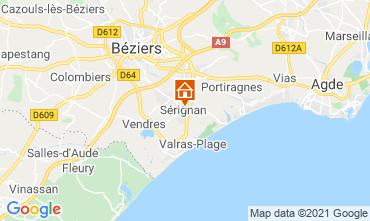 Mapa Sérignan Praia Apartamentos 93177
