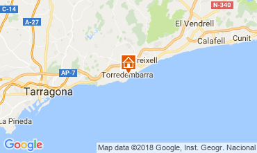 Mapa Torredembarra Apartamentos 113650
