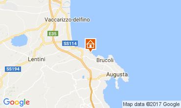Mapa Brucoli Apartamentos 22489