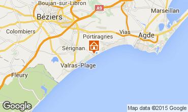 Mapa Sérignan Praia Mobil Home 92666