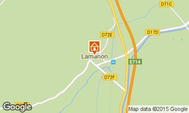 Mapa Lamanon Casa de turismo rural/Casa de campo 63660
