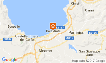 Mapa Balestrate Apartamentos 73995